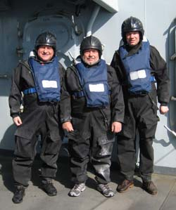 Intrepid boatsmen, Stephen, Peter and Andy
