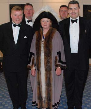 Master Susan Wood had the support of her brothers at her Installation Dinner