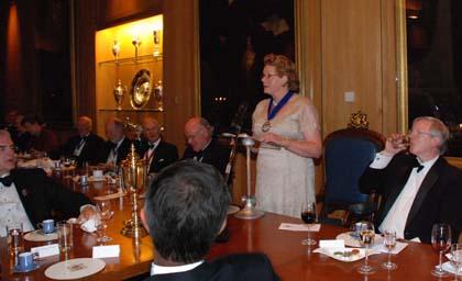 Installation dinner 2009 Master speech