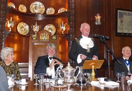 Sheriff Adrian Waddingham responds to the toast