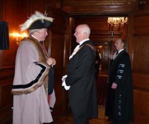 The Master receives Sheriff Adrian Waddingham