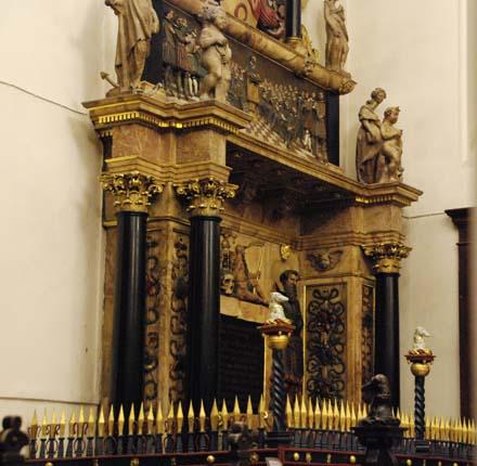 Thomas Sutton's tomb