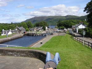 Top of Lock system at Fort Augustus