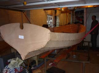 Boat under construction