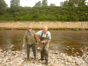 The prize - a 12lb salmon caught on the River Dee