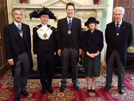 Lord Mayor and Lady Mayoress with Peter Simeons, Jeremy Brassington and Bill Gammell
