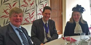 Master Peter Simeons flanked by Lord and Lady Erroll