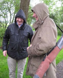 William and Bill enjoying the rain.