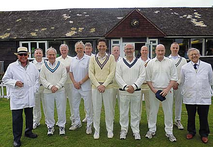 The players and umpires