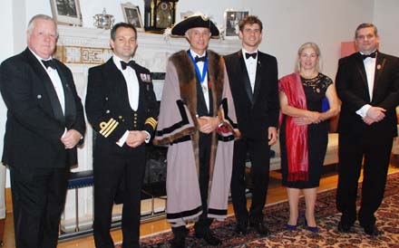 Master Jeremy Brassington flanked by our five new Liverymen