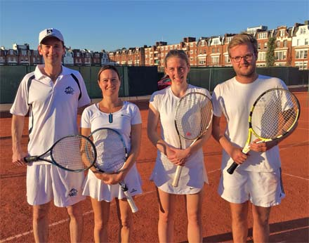 Championship Finalists: Tallow Chandlers Chris Kurkijan and Zoe Taylor and Salters Ellie Hill and Tom Wordie.