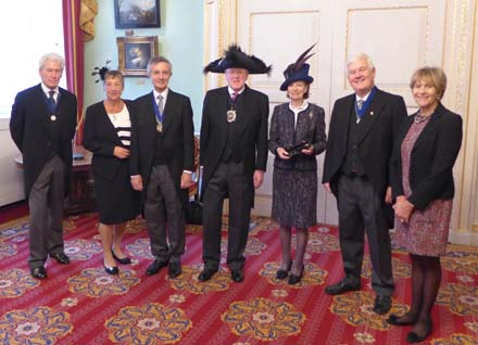 The Master with his wife, the Lord Mayor and Lady Mayoress and the Feltmakers' Wardens