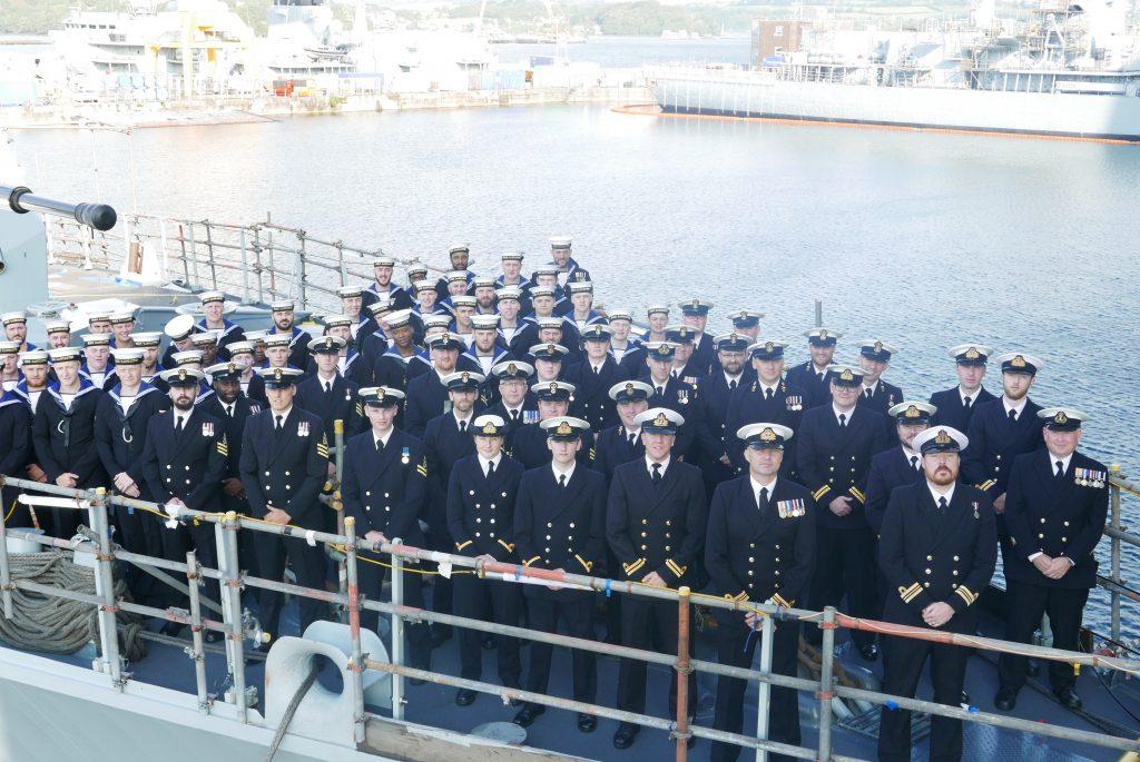 The present Crew of HMS Lancaster